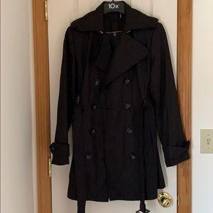 Calvin Klein Black Trench coat size M